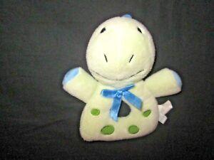 Koala Baby Green Dinosaur Baby Security Rattle Lovey PLUSH  Cuddle Toy