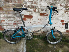 Brompton S6L Blue and White 2018. Great condition. Global shipping.