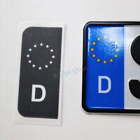 2x Nummernschild Auto Aufkleber Schwarz EU Nummernschild Schwarz TÜV AU 2020 21