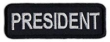 Motorcycle Biker Jacket/Vest Patch - President - Member Rank, Position, Status