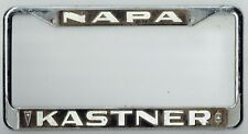 Napa California Kastner Pontiac Oldsmobile Vintage Dealer License Plate Frame