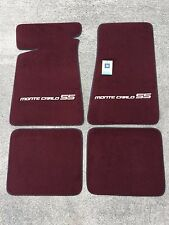 Carpeted Floor Mats - Small Gray Monte Carlo SS on Maroon Mats