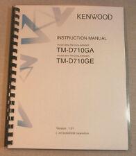 Kenwood TM-D710GA/E Instruction Manual:  Premium Card Stock Covers & 28 LB Paper