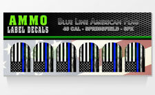 SPRINGFIELD XD XDM 40 CAL BlueLine American Flag Officer Magazine Base Decal 6PK