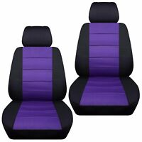 Fits 2000-2011 Suzuki Jimny  front set car seat covers  black and purple