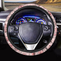 Cute Pink Pig Design Car Steering Wheel Cover for Women Girls Auto Interior