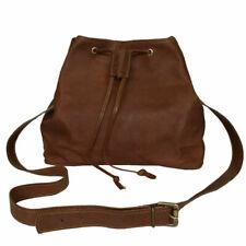 Goat Leather Bucket Drawstring Bag  Women's Purse Shoulder Bag
