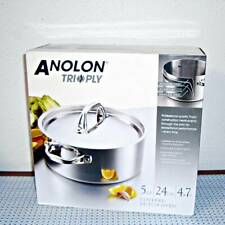 NEW ANOLON TRI-PLY CLAD STAINLESS STEEL 5-QUART DUTCH OVEN WITH LID