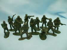 Xmas Stocking Filler 12 Green Plastic Toy Soldiers