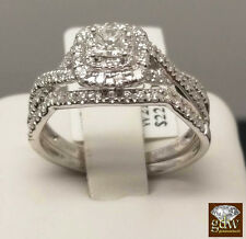Ladies 14k White Gold Ring With Band,Princess Cuts Diamonds, Engagement,Wedding