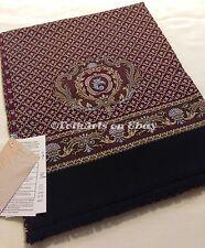 "Russian Pavlovo-Posad Men's Scarf 100% Wool 27x140cm/11""x55"" Bordeaux"