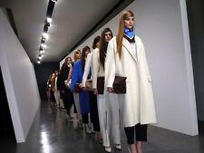 NWT CELINE White Alpaca Mohair Oversized Leather Coat Jacket FR34 XS