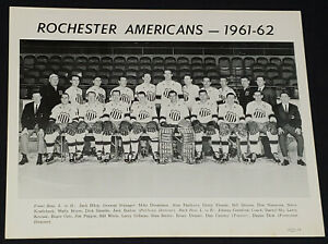1961-1962 - ROCHESTER AMERICANS - AHL - TEAM PHOTO - DON SIMMONS, etc