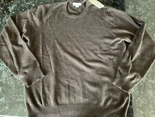 NWT Williams Cashmere Sweater Chocolate Brown Men's XL Crew Neck
