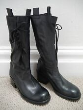 A.F. VANDEVORST black BUTTER SOFT leather lace and tie detail boots size 40