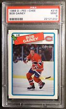 1988 O-PEE-CHEE BOB GAINEY #216 PSA  9 MINT MONTREAL CANADIENS POP 13   (140)