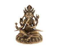 Statua Di Lord Ganesh Dieu Elefante IN Ottone Artigianato Nepalese 1KG 900 2491