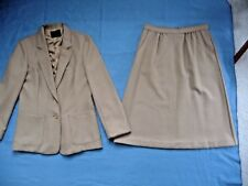 Levi Strauss 70th 2ps 12 Blazer Jacket Bend Over Skirt Dacron Brown Secretary