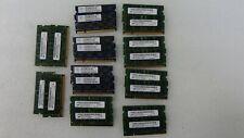 Lot of 2 2GB PC2-6400S DDR2-800MHz SoDimm Laptop Memory Major Brands