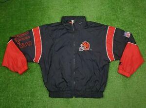 Vintage 90s Cincinnati Bengals NFL Windbreaker Starter Jacket W/ Hood Size M