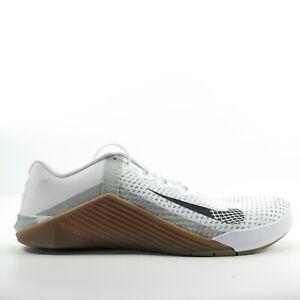 Nike Metcon 6 'White/Black-Gum Dark Brown CK9388-101 Men's Size 13