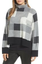 NORDSTROM SIGNATURE Check Plaid Cashmere Sweater.  Size XS $399