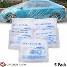 5 Pack Clear Plastic Temporary Universal Disposable Car Cover Garage Protection
