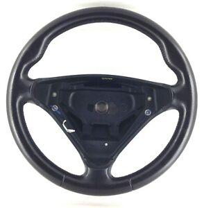 Genuine Mercedes W203 R171 SLK black leather steering wheel. BARGAIN!      1D