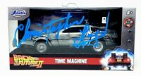 "CHRISTOPHER LLOYD Signed ""BACK TO THE FUTURE 2"" 1:32 DeLorean  BAS # WC77814"