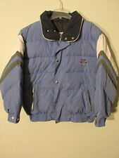 V7831 Bogner Blue w/White/Gray Accents Zip/Snap Down Racing Jacket Men's 44
