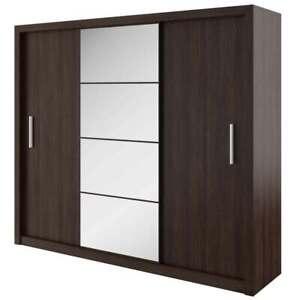 MIRRORED WARDROBE 250cm wide, sliding door bedroom living hallway furniture ID01