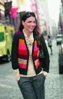Cabi Womens Size Medium Long Sleeve Color Block Cardigan Sweater Style 171 478
