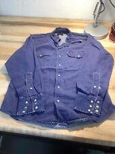 Men's Vintage Roebuck's Blue Denim Button Up Shirt Size M