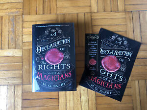 SIGNED HG Parry A Declaration Of The Rights Of Magicians HB 1st/1st Goldsboro