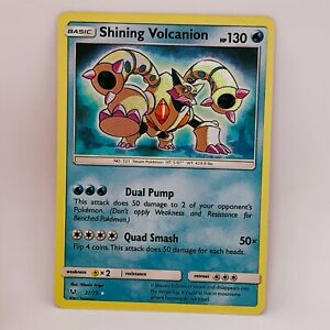 Shining Volcanion 27/73 - Holo Rare - Shining Legends - Pokemon Card - NM