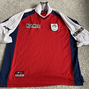 Lancashire Cricket Shirt 1996 Large Norweb RARE
