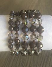 NEW AUTHENTIC CHAN LUU CHOCOLATE MIX MULTI STRAND BRACELET WITH BROWN LEATHER