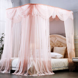 U-shaped rail mosquito net romantic bed netting palace style bed curtain summer