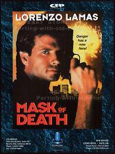 MASK OF DEATH__Original 1995 Trade print AD promo / poster__LORENZO LAMAS_1996