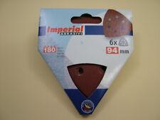 Delta triangle detail sander hook & loop discs 94mm,pack 6, 180 grit fine