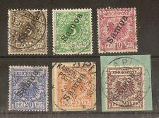 German PO's in Samoa 1900 Values to 50pf SG.G1-G6 Fine Used Cat£275