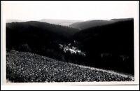 Einsiedel Thüringen DDR Postkarte 1961 Blick nach Heubach Panorama Wald gelaufen