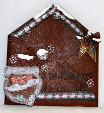 "Rusted Tin Santa's House North Pole Envelope by DCC - 7"" x 7 1/2"""