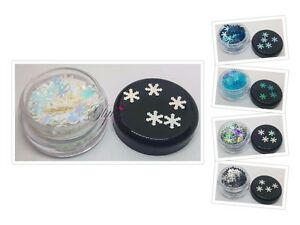 WINTER SNOWFLAKES FOR NAIL ART GLITTER DECORATION