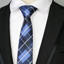 Plaid Striped 6CM Men skinny tie Man Jacquard Blue Black Wedding Party Silk ties