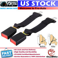 2pcs Universal Seat Belt Extender 36CM Safety Extension Buckle Trim For Car Van