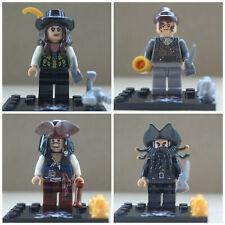 Pirates Of The Carribean Jack sparrow Black Beard  4 Mini Figures Use With lego