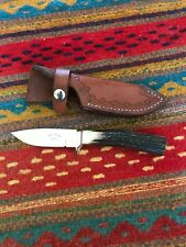 Beautiful Stag Handle Knife~ Brad Johnson Maker ~ Embellished Sheath