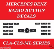 2008-2012 MERCEDES C250-C300 RADIO BUTTON DECALS WORN PEELING BUTTONS