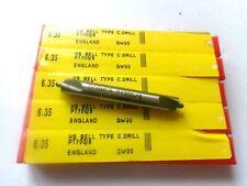 dormer 6.35 mm centre drill x 5--new